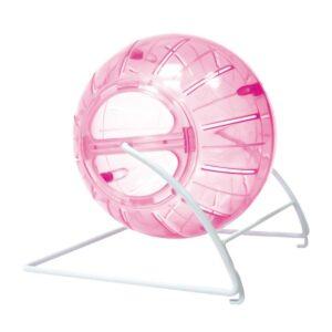 Carusel Happet bila plastic pentru hamsteri 14.5 cm roz 4in1