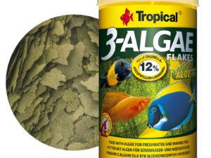 Hrana pesti erbibori Tropical 3-Algae Flakes