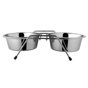 Set 2 castroane cu suport metalic King 17cm 0.7L