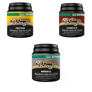 Set Hrana Dennerle Shrimp King Mineral + Complete + Protein 400g