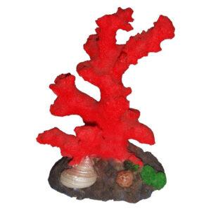 Decor acvariu coral rosu 10cm 407E
