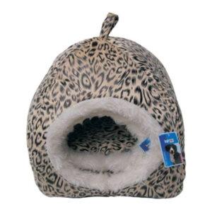casuta culcus pentru pisici model leopard